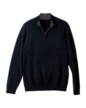 Edwards 712 Quarter Zip Cotton Blend Sweater