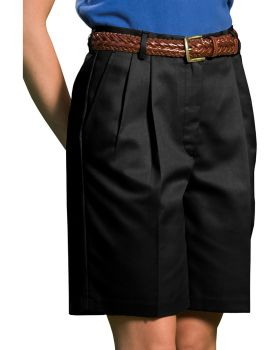 Edwards 8419 Ladies' Business Casual Pleated Chino Short