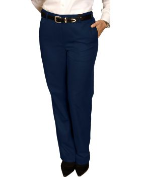 Edwards 8579 Ladies' Blended Chino Flat Front Pant