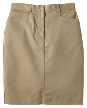 Edwards 9711 Ladies' Blended Chino Skirt-Medium Length