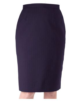 Edwards 9769 Ladies' Pinstripe Straight Skirt