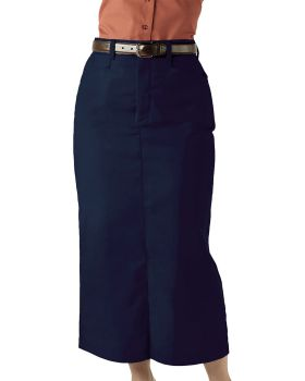 Edwards 9779 Ladies' Blended Chino Skirt-Long Length