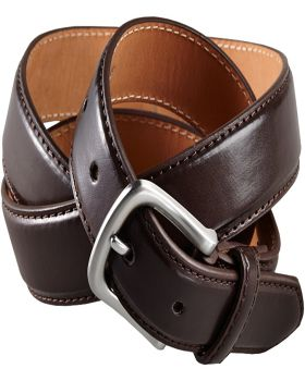 Edwards BP01 Leather Dress Belt With Nickle Brushed Buckle