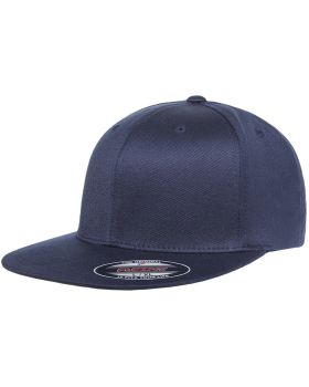 Flexfit 6297F Adult Wooly Twill Pro Baseball On-Field Shape Cap with Fla ...