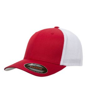 Flexfit 6511 Adult 6 Panel Silver underbill Trucker Cap