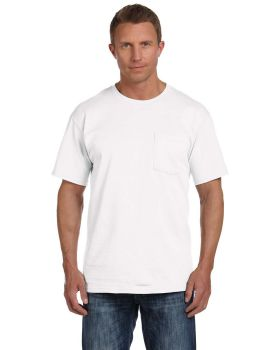 Fruit of the Loom 3931P Adult Pocket HD Cotton T-Shirt
