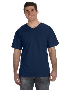 Fruit of the Loom 39VR Adult HD Cotton V-Neck T-Shirt