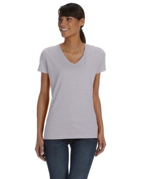 Fruit of the Loom L39VR HD Cotton Women's V-Neck T-Shirt