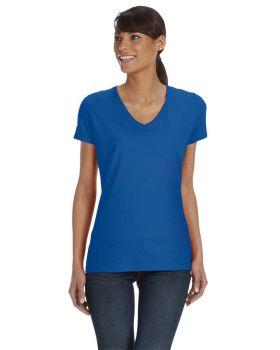 Fruit of the Loom L39VR HD Cotton Women's V-Neck T-Shirt
