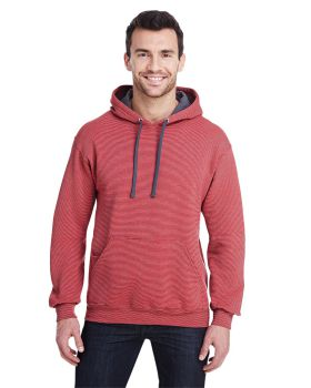Fruit of the Loom SF77R Adult Sofspun Striped Hooded Sweatshirt