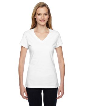 Fruit of the Loom SFJVR Ladies' Sofspun Jersey Junior V-Neck T-Shirt