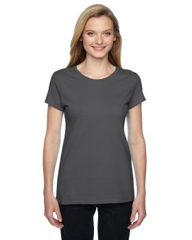 Fruit of the Loom SSFJR Ladies Sofspun Jersey Junior Crew T-Shirt