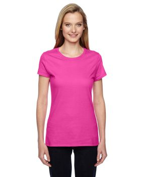 Fruit of the Loom SSFJR Ladies' Sofspun Jersey Junior Crew T-Shirt