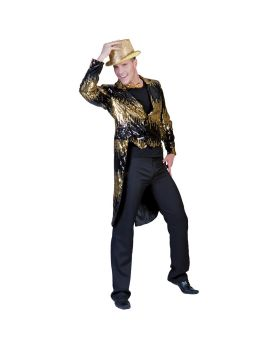 Funny fashions FF782851 Glitter Tailcoat Gold Small