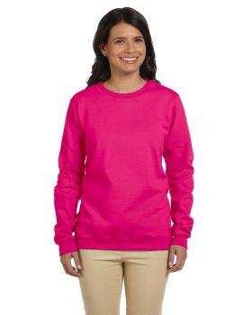 'Gildan G180FL Women's Heavy Cotton Polyester Blend Fleece Crew SweatShirt'