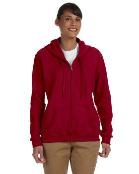 Gildan G186FL Ladies' Heavy Blend Ladies' 50/50 Full-Zip Hood