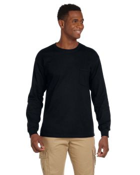Gildan G241 Adult Ultra Cotton Long Sleeve Pocket T-Shirt