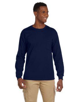 Gildan G241 Adult Ultra Cotton Long Sleeve Pocket T-Shirt