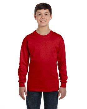 Gildan G540B Youth Ribbed cuffs 5.3 oz Long Sleeve T-Shirt