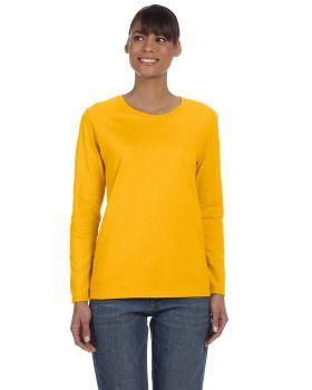 Gildan G540L Ladies Long-Sleeve 5.3 oz Taped Neck T-Shirt