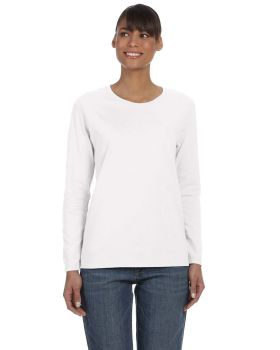 Gildan G540L Ladies Long-Sleeve 5.3 oz Taped Neck T-Shirt