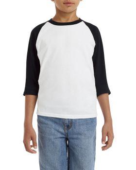 Gildan G570B Youth 3/4-Raglan Sleeve T-Shirt