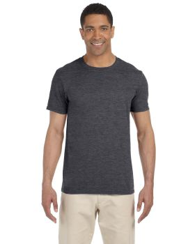 'Gildan G640 Adult Softstyle 3/4 Sleeve Double Needle Collar 4.5 oz T-Shirt '