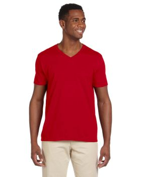 Gildan G64V Adult Softstyle V Neck T-Shirt