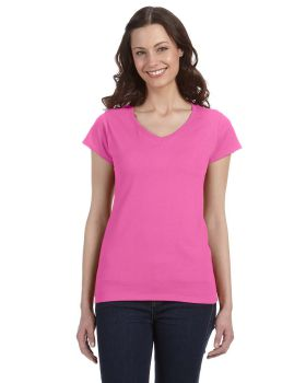 Gildan G64VL Ladies' SoftStyle Fitted V-Neck T-Shirt