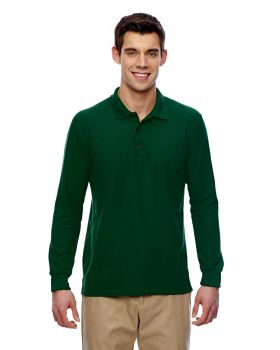 Gildan G729 Adult Double Piqué Long-Sleeve Polo