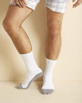 Gildan GP751 Adult Platinum Adult Crew Socks
