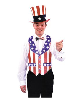 Halloween Costumes QA81 Vest Fourth Of July Bar-Paper