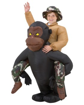 Halloween Costumes SS29060G Riding Gorilla Kids Inflatable