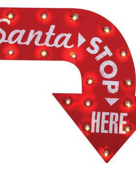 Halloween Costumes SS34646G Santa Stop Here Vintage Sign