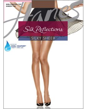 Hanes 00715 Women's Silk Reflections Sheer Toe Pantyhose