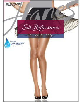 Hanes 00715 Women's Silk Reflections Sheer Toe Pantyhose