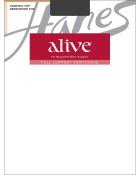 Hanes 00810 Women's Alive Full Support Control Top Reinforced Toe Pantyh ...