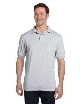 Hanes 054P Adult 50/50 EcoSmart Jersey Pocket Polo