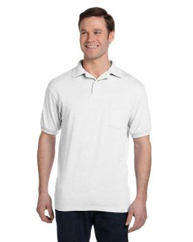 Hanes 054P Adult EcoSmart Jersey Pocket Polo Shirt