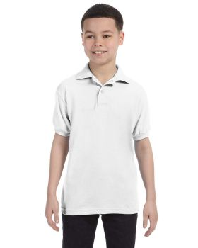 Hanes 054Y Kids' Cotton-Blend EcoSmart Jersey Polo