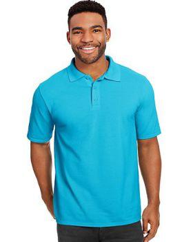 Hanes 055P Men's X Temp Pique Short Sleeve with Fresh IQ Polo Shirt