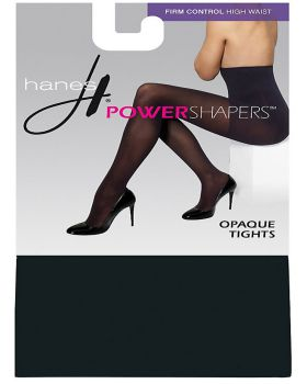 Hanes 0B989 Women's Firm Control High Waist Power Shapers Opaque Tights