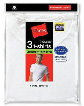 Hanes 2135X Big Man's Crewneck T-Shirt 3-Pack