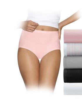 Hanes 40HUCC Ultimate Comfort Cotton Women's Brief Panties 5-Pack