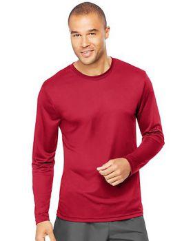 Hanes 482L Adult Cool DRI with FreshIQ Long Sleeve Performance T-Shirt