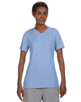 'Hanes 483V Cool DRI Women's Performance V Neck T-Shirt'