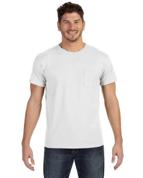 Hanes 498P Adult Ringspun Cotton nano-T T-Shirt with Pocket