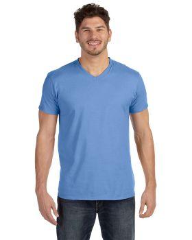 Hanes 498V Adult nano Tee Ring Spun Cotton V Neck T-Shirt