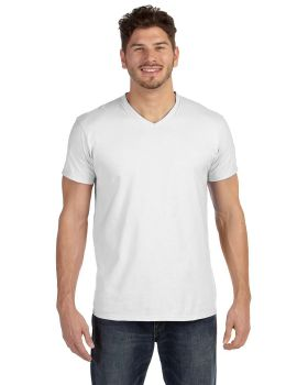 Hanes 498V Adult nano Tee Ring Spun Cotton V Neck T-Shirt