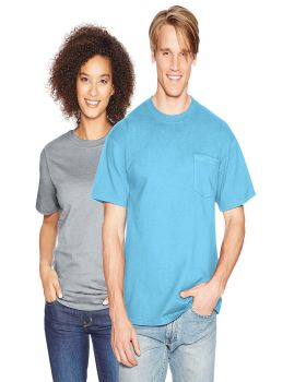 Hanes 5190 Beefy Tee Cotton with Pocket T-Shirt